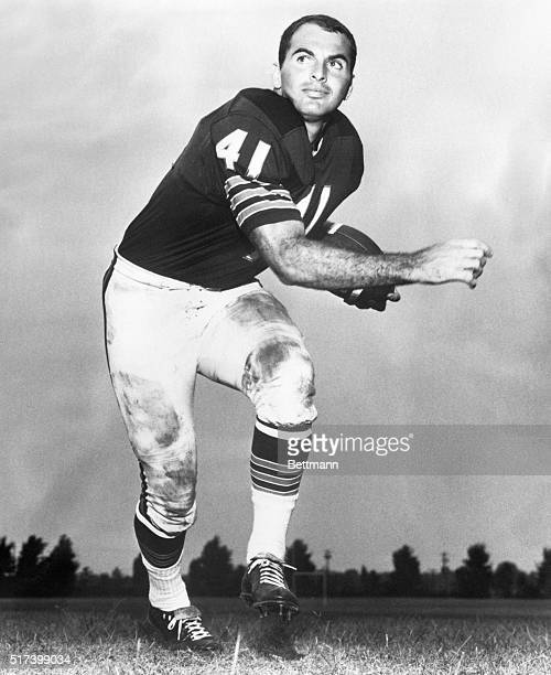 1970New York New York Picture shows a action shot of Chicago Bears running back Brian Piccolo who died early 6/16 at Memorial Hospital for Cancer and...