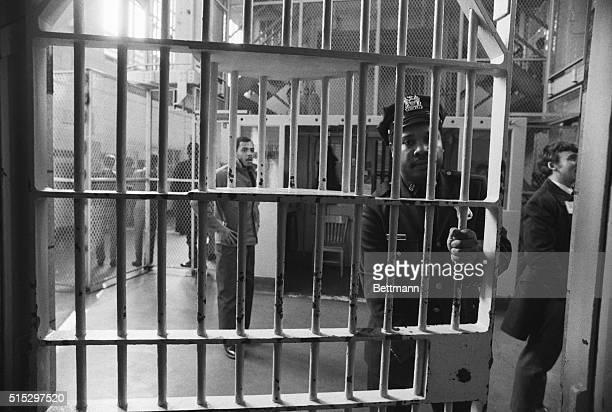 1970Rikers Island New York Prisoners in cell blocks at Rikers Island Prison