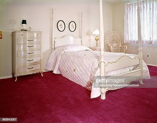1970s BEDROOM WITH WHITE...