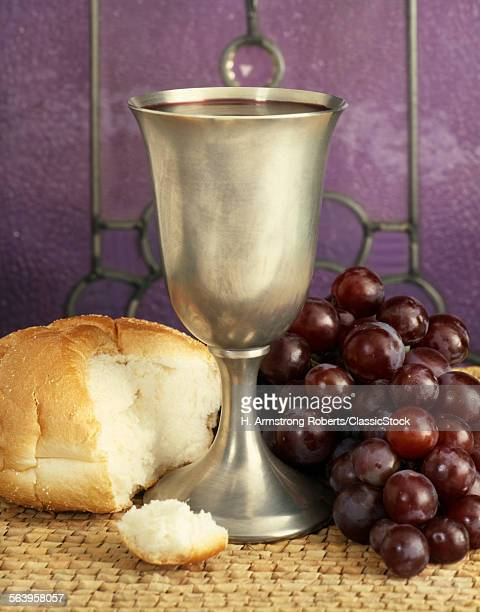 1970s BREAD CHALICE WINE GRAPES COMMUNION