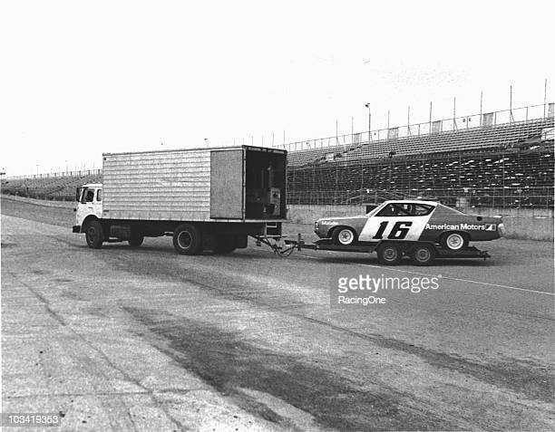 Car owner Roger Penske used this simple box truck and tandemaxle trailer to transport his AMC Matador to Daytona International Speedway in the early...
