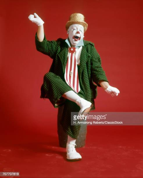 1970s CLOWN GREEN CHECKED...
