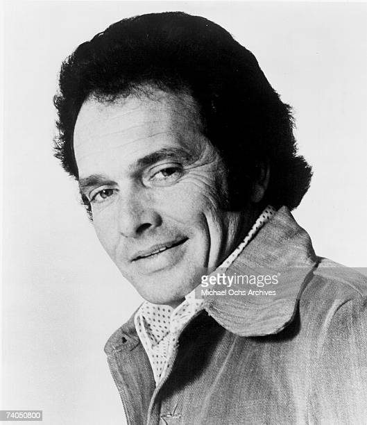 Country musician Merle Haggard poses for a mid 1970's portrait.