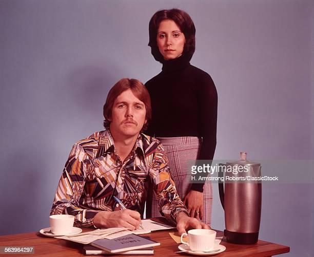 1970s COUPLE HUSBAND WEAR...