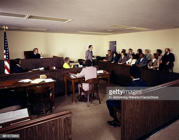1970s COURT ROOM SCENE