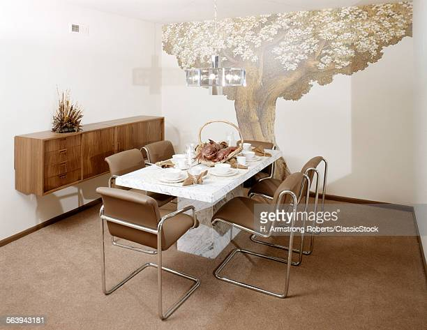 1970s DINING ROOM WITH...