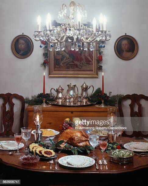 1970s DINNER TABLE TURKEY...