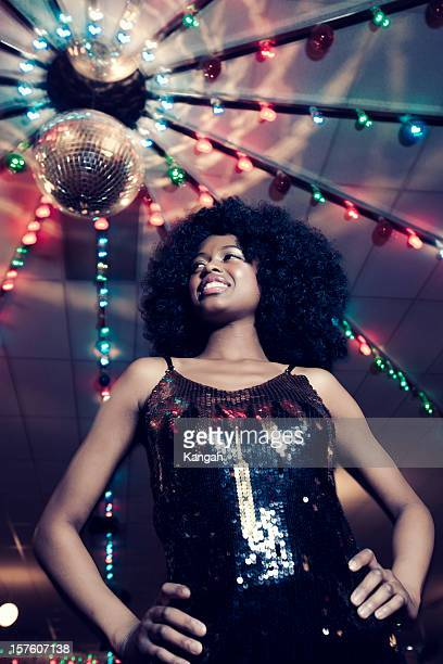 1970s disco woman - roller rink stock photos and pictures