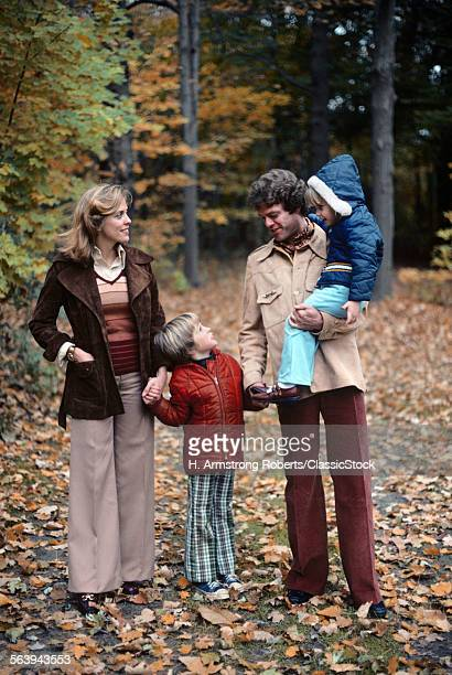1970s FAMILY OF FOUR...