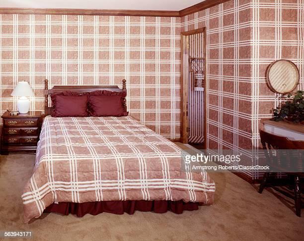 1970s INTERIOR BEDROOM...