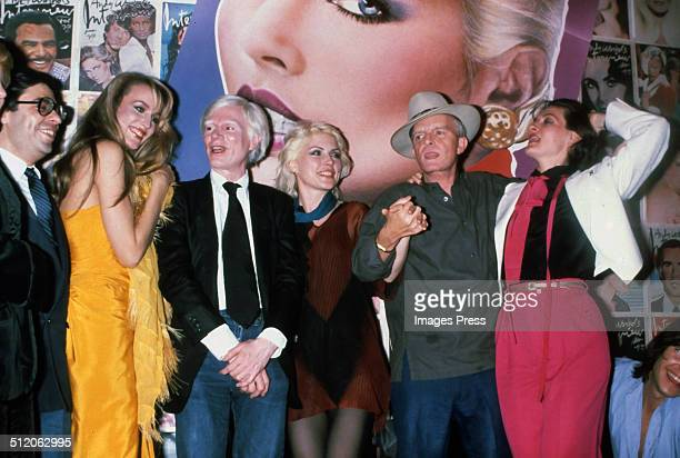 Jerry Hall Andy Warhol Debbie Harry Truman Capote and Paloma Picasso at Studio 54 in New York City circa 1970s