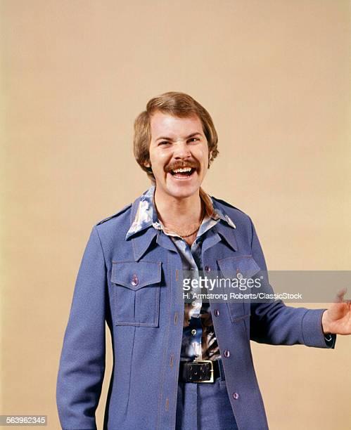 1970s LAUGHING MAN WEARING...