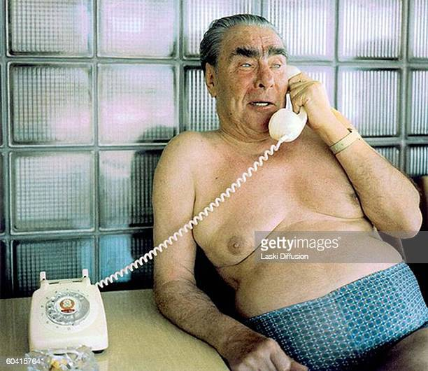 Leader of the Soviet Union Leonid Brezhnev on holiday Late 1970s