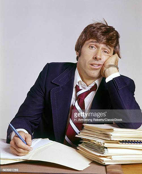 1970s MAN OFFICE BUSINESS...
