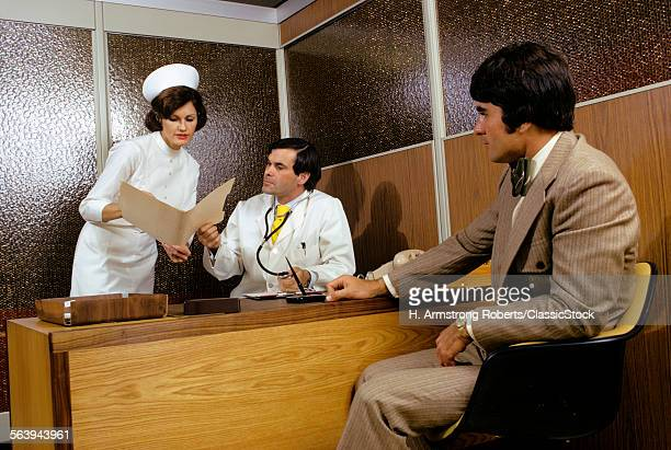1970s MAN PATIENT MEETING...