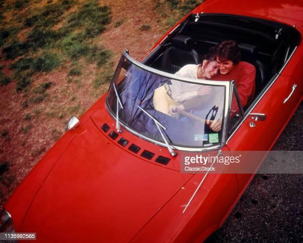 1970s MAN WOMAN SMILING...