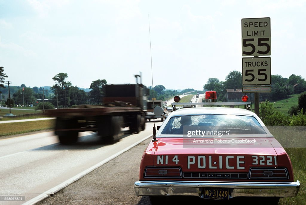 1970s POLICE CAR WITH... : News Photo