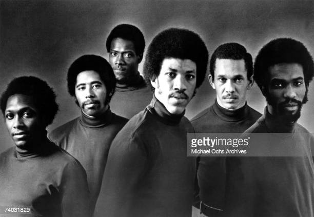 RB group the Commodores pose for a mid 1970's portrait The Commodores featured William King Thomas McClary Ronald LaPread Walter Clyde Orange Lionel...