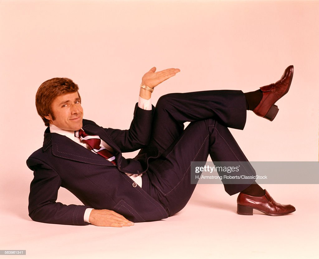 1970s SMILING MAN IN... : Stock Photo