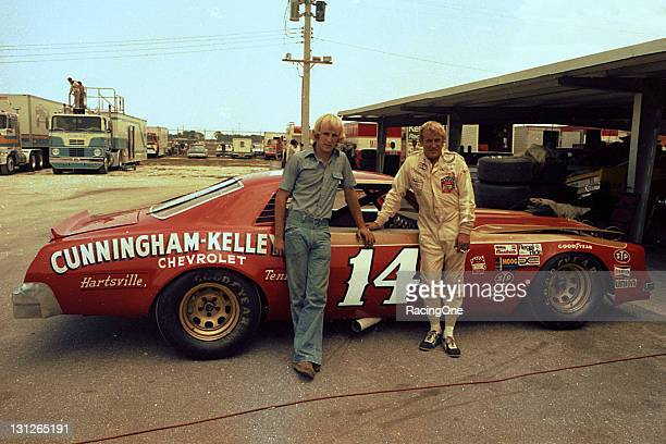 "Sterling Marlin and his father Clifton ""Coo Coo"" Marlin at a NASCAR Cup race in the mid1970s Coo Coo Marlin retired from Cup racing after the 1980..."