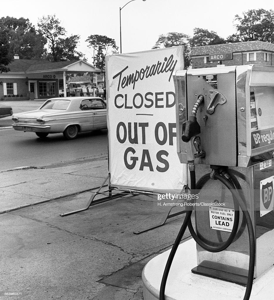 1970s TEMPORARILY CLOSED... : Stock Photo