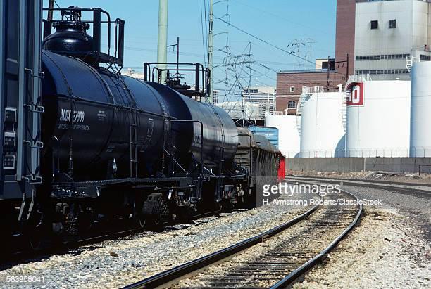 1970s TRAINS RAILROAD TRACKS BULK CONTAINER CARS