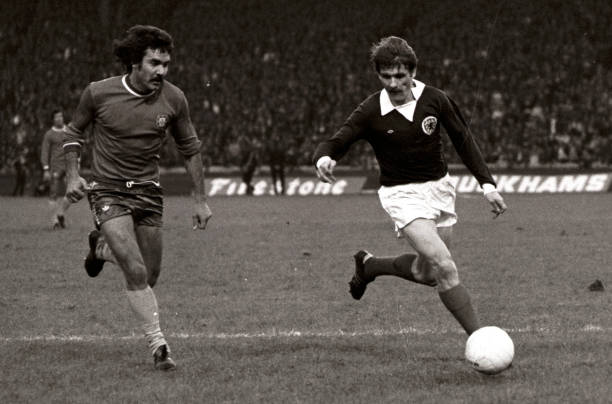 Charlie Cooke in action for Scotland