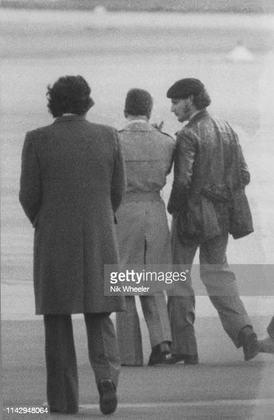 Carlos the Jackal walks on runway of Algiers airport with Algerian Minister for Foreign Affairs Abdel Aziz Bouteflika as he negotiates a deal to free...