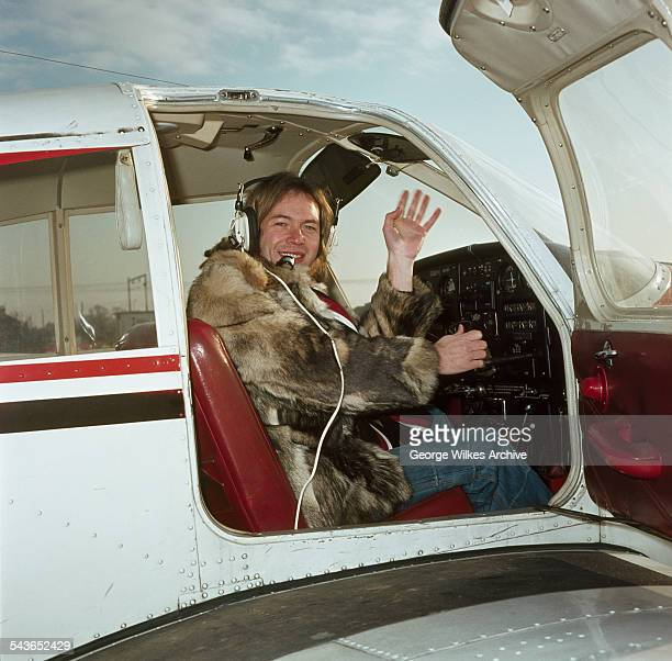 Alan Williams lead singer with pop group The Rubettes aboard his private plane The Rubettes' first and biggest hit was Sugar Baby Love which was a...