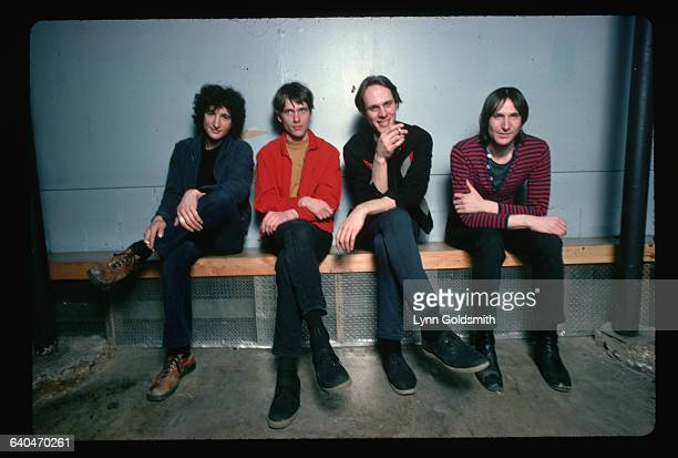 1978The rock group Television is shown seated on a bench From left Billy Ficca Richard Lloyd Tom Verlaine Fred Smith