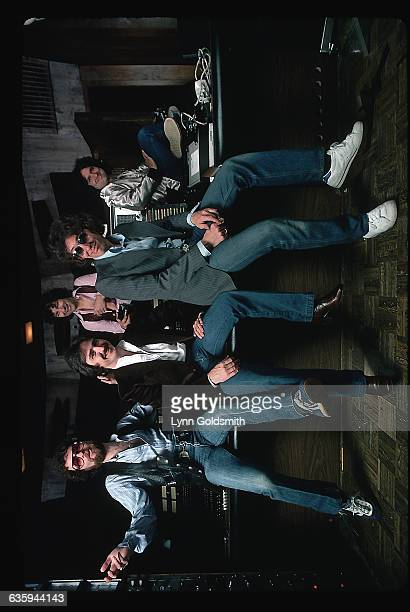 1979The rock and roll group Blue Oyster Cult is shown posed in what appears to be a musical studio