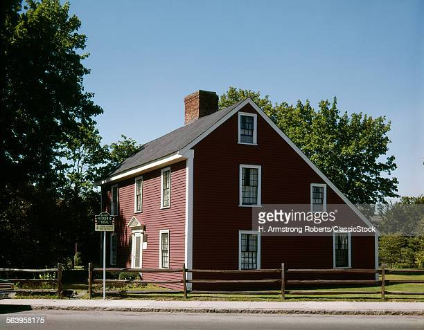 1980s BIRTHPLACE OF JOHN ADAMS 2ND PRESIDENT OF UNITED STATES QUINCY MA USA