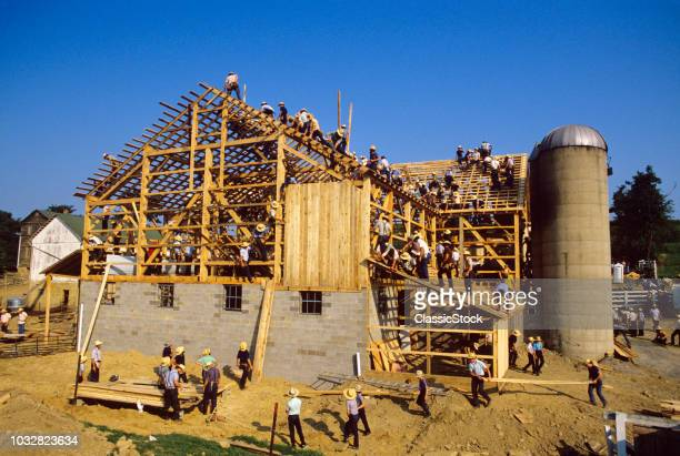 1980s BUILDING AN AMISH...