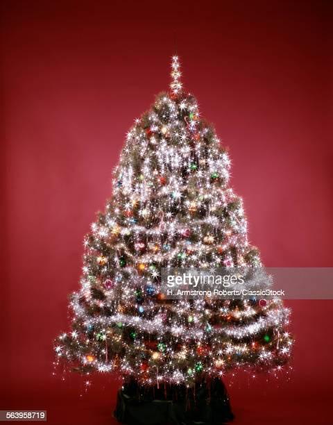 1980s CHRISTMAS TREE LIGHTS TINSEL