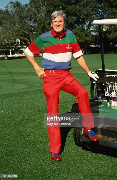 Doug Sanders during a 1980s Masters Tournament at Augusta National Golf Club in Augusta Georgia