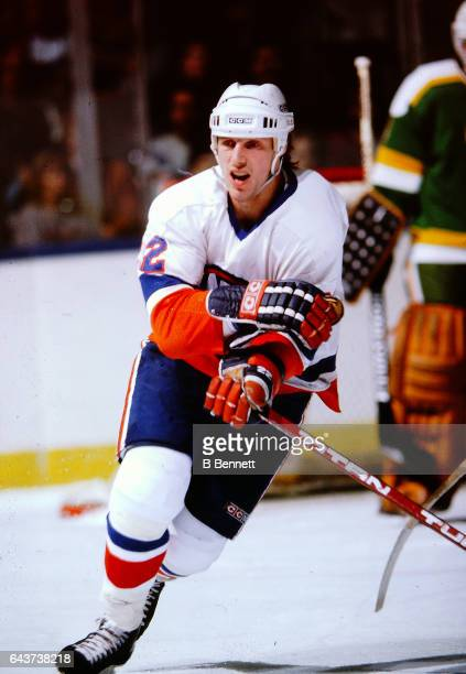 1980s: Former New York Islander Mike Bossy in action.