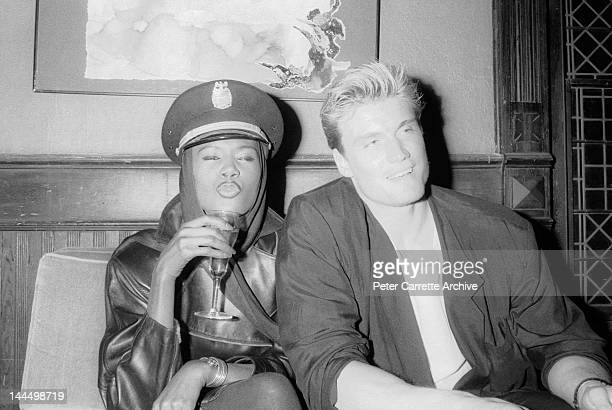 Grace Jones and Dolph Lundgren in the 1980s in New York City