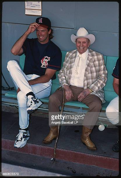 California Angels pitcher Chuck Finley with owner Gene Autry Chuck Finley pitched with the Angels from 19861999