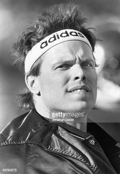 Jim McMahon of the Chicago Bears looks on during a circa 1980s game McMahon played for the Bears from 198288