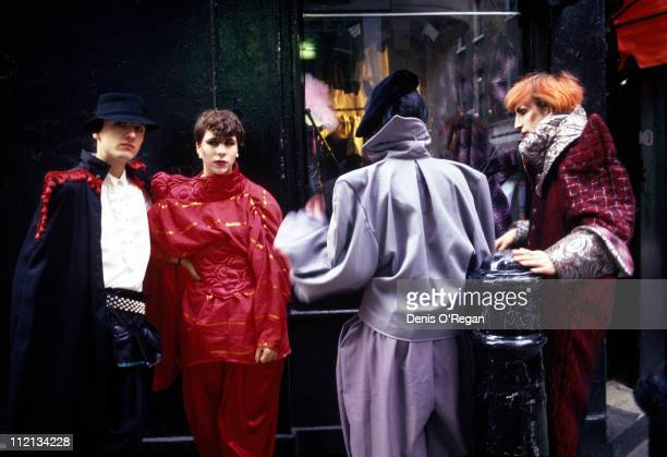 1980s New Romantic fashion in London 1981 Amongst the group is Martin Degville of Sigue Sigue Sputnik