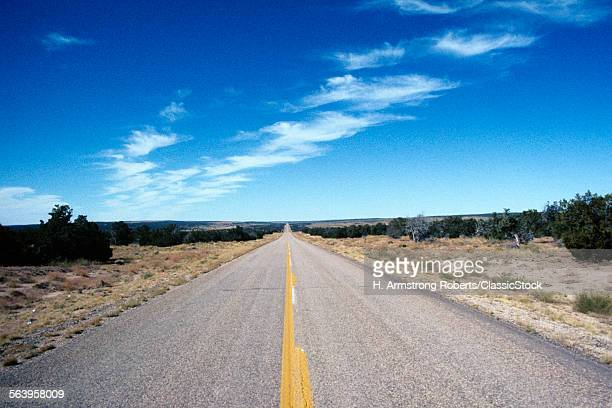 1980s OPEN ROAD TWO LANE...