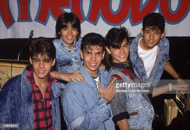 Puerto Rican teen quintet 'Menudo' pose for a mid 1980's portrait Ricky Martin was a member from 19841989