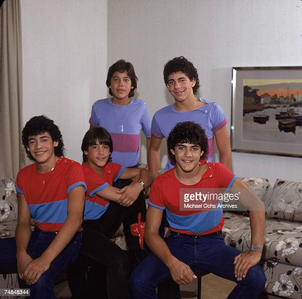 Puerto Rican teen quintet 'Menudo' pose in a hotel room for a mid 1980's portrait Ricky Martin was a member from 19841989