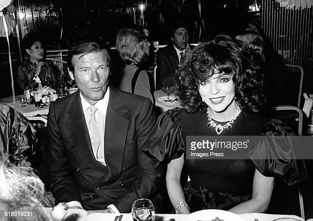 Roger Moore and Joan Collins circa 1980s in New York City