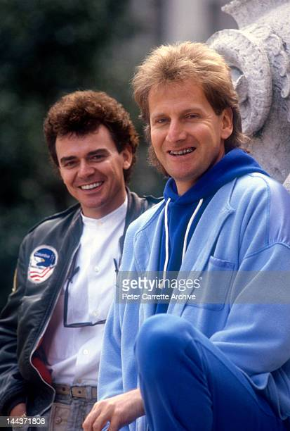 Russell Hitchcock and Graham Russell from the Australian rock group 'Air Supply' in the 1980s in New York City