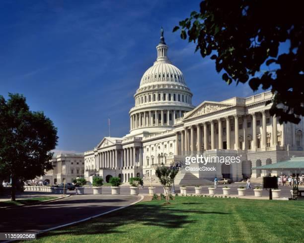 1980s THE SENATE WING RIGHT AND CAPITOL WASHINGTON DC USA
