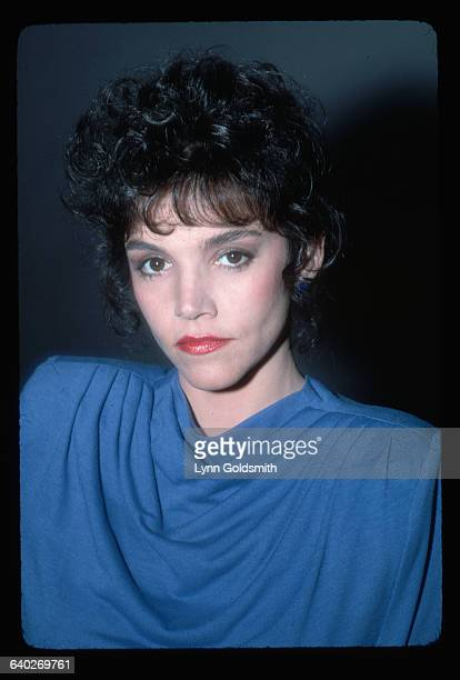 1981Actress Brooke Adams is shown in this head and shoulders studio portrait She wears a blue dress and has a serious expression on her face