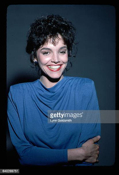 1981Actress Brooke Adams is shown smiling in this studio portrait She wears a blue dress in this waistup photograph
