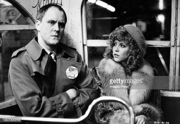 LOS ANGELES CIRCA 1981John Lithgow poses as a television reporter and Nancy Allen is a witness to murder in Filmways Picture' suspense drama 'Blow...