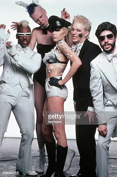 The Plasmatics pose for a group studio shot